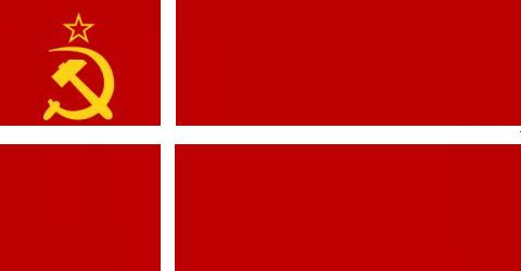 Danish communist flag